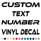 Custom Text Decal Vinyl Lettering Personalized Sticker Business Sign Name xe