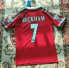 Vintage David Beckham #7 Manchester United 98/99 Red Short Sleeve Jersey