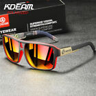 KDEAM Outdoor Polarized Sport Sunglasses for Men Women Square Driving Glasses