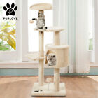 Kitten &Cat Tree Scratching Post Climbing Tower Activity Centre Toy Furniture UK