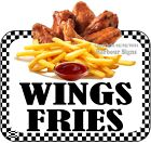 Wings Fries DECAL (CHOOSE YOUR SIZE) Food Truck Concession Vinyl Sticker
