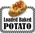 Loaded Baked Potato DECAL (CHOOSE YOUR SIZE) Food Truck Concession Vinyl Sticker