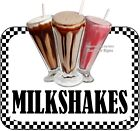 Milkshakes DECAL (CHOOSE YOUR SIZE) Food Truck Concession Vinyl Sticker