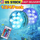 Submersible Waterproof LED Pond Light RGB Underwater Swimming Pool Lamp + Remote
