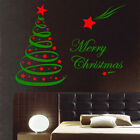 2 Colours Christmas Tree Vinyl Sticker Decoration Decal Wall Window Shop Display