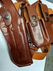 Colt 1911 Leather Vertical Shoulder Holster with double mags w/minor defects