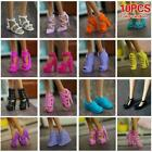 4/10 Pairs Fashion High Sheel Shoes For 11.5/12* Doll Accessories Hot Sale A8F5