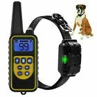 300/800m Waterproof Dog Electric Shock Training Collar Rechargeable Remote 2021
