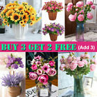 Artificial Flowers Real Touch Bunch Wedding Party Home Floral Home Bouquet Decor