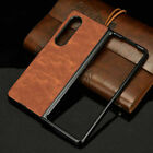 For Samsung Galaxy Z Fold 3 5G Shockproof Luxury Retro Leather Slim Case Cover