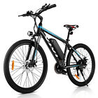 26IN 350W Li-ION Electric Bicycle E Bike Shimano Removable Battery 1000W Sport..