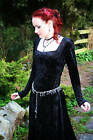 Enchanting VELVET Witchy Dress/GOTH/PAGAN/FAE/LARP/Handfasting/Rowans Closet