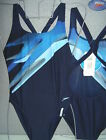 SPEEDO SWIMWEAR ENDURANCE FEMALE BLUE  STROBE POWERBACK SWIMSUIT UK 28""