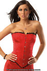Brocade Corset Boning Front Busk Closure Lace Up Back