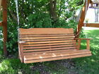 Amish Made Cedar 4' Midback Porch Swing