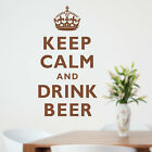 KEEP CALM AND DRINK BEER wall sticker quote decal WA241