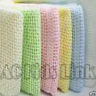 ❤ Brand New Baby Cellular Blanket 100% Cotton Blankets Pram, Crib Moses Boy Girl