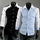 New Mens Casual Luxury Stylish Dress Slim Shirts ST57 2 Colors US Size S,M,L