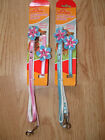 Dog collar and lead Set Puppy collar and lead set Pink Blue Flower design cute
