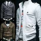 New Mens Stylish Slim Fit Sexy Zip Up Coats Jackets J01