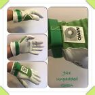 Owen Handball Gloves White/Green 921 Unpadded One Wall 3/4 Wall Handball