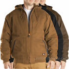 Dickies Jacket Mens Sanded Duck Hooded Lined Jackets TJ345 Cotton Black, Brown