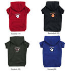 ZACK & ZOEY HOODED SPORTS SWEATSHIRT DOG PUPPY HOODIE PET CLOTHES XS-XL