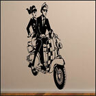 SKA SCOOTER  LARGE KITCHEN BEDROOM WALL MURAL GIANT ART STICKER DECAL VINYL