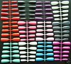 100 Long Coloured Oval/Rounded Full Cover False Nails - Various Colours - **UK*