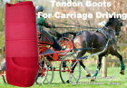 Horse Tendon Boots Red : Miniature To Horse Size Ideal For Carriage Driving