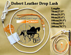 Carriage Driving Leather Whip Drop Lash For Single Horse Pony Cob  Pair Team