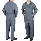 Dickies COVERALLS Mens Long Sleeve Cotton Coveralls FISHER STRIPE 4897 Gray