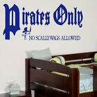 LARGE CHILDRENS BEDROOM QUOTE PIRATES WALL STICKER GRAPHIC DECAL MATT VINYL