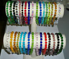 Celestial Crystal Cube Stretch Ankle Bracelet - Many Colors to Choose From