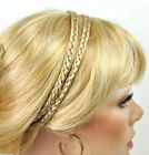 Forever Young Boho Double Braid Synthetic Headband Hair Piece - Choose Color!