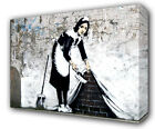BANKSY - MAID - GICLEE CANVAS ART Choose your size