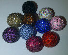 12mm Pave Fimo  Crystal Set Shamballa Bracelet beads -  DIY Jewellery making