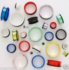 Plugs Pair of Super-Size Neon Steel Single Flares 16mm to 30mm in Many Colors #2