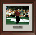 "Tiger Woods ""Pump Fist"" 2001 Masters Framed Photo 11 x 14"