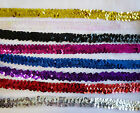 "ONE METRE Elasticated stretch sequin trim 19mm / 3/4"" wide / sequins"