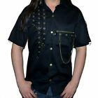 Phaze Clothing Golden Steam Anarchy Steampunk D Ring Short Sleeved Workshirt
