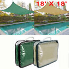 18' Outdoor Sun Shade Sail Square Canopy 6 Degree Lower Patio Pool Cover Top New