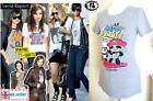 PANDA BEAR SUMMER T-SHIRT WOMAN GIRL TOP TUNIC DRESS DISNEY CARTOON PIRATE SKULL