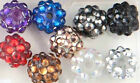 10 x Resin Acrylic Rhinestone Shamballa Bracelet Making DISCO Ball Beads, DIY