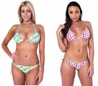 Ties Sides Halter Neck Bikini Set Sizes 8 - 16 Great Colours Style 30514 New