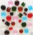 Plugs Pair of 2G Facet Cut Crystal Saddles in Assorted Colors