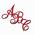 Embroidered Iron on Script Letters-Sold Separately-White,  Black Or Red (S01189)