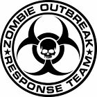 Zombie emergency response team - walking dead apocolypse  Decal/Sticker