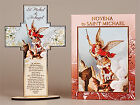 CRUCIFIX CROSS & NOVENA BOOK St SAINT MICHAEL / FRANCIS / JUDE / DIVINE MERCY