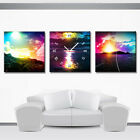 Colorful Sky Contemporary Print On Quality Canvas Clock Set READY TO HANG